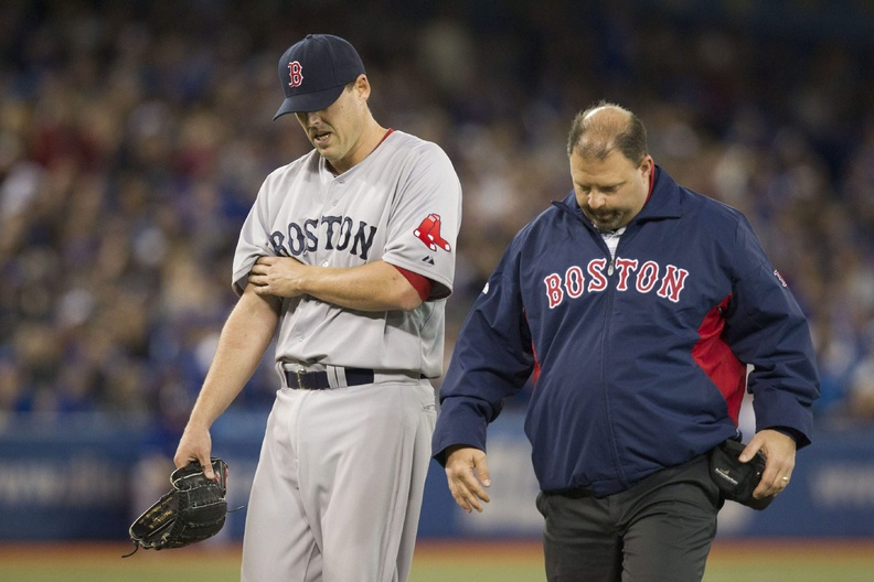 Boston Red Sox pitcher John Lackey, who was injured April 6 against Toronto, is expected to pitch for the Portland Sea Dogs on Monday on a rehab assignment. 2013 AL American athlete athletes athletic athletics baseball Blue Jays Canada Canadian Center Centre competative compete competing competition competitions event game Jays League Major MLB pro professional Rogers sport sporting sports Toronto 2013 AL Am