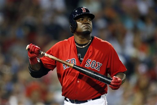 Boston Red Sox's David Ortiz holds his bat after striking out in the seventh inning of a game against the Toronto Blue Jays in Boston on Friday. As a team, the Sox have already struck out 317 times this season. Only the woeful Houston Astros have more punchouts in the AL.