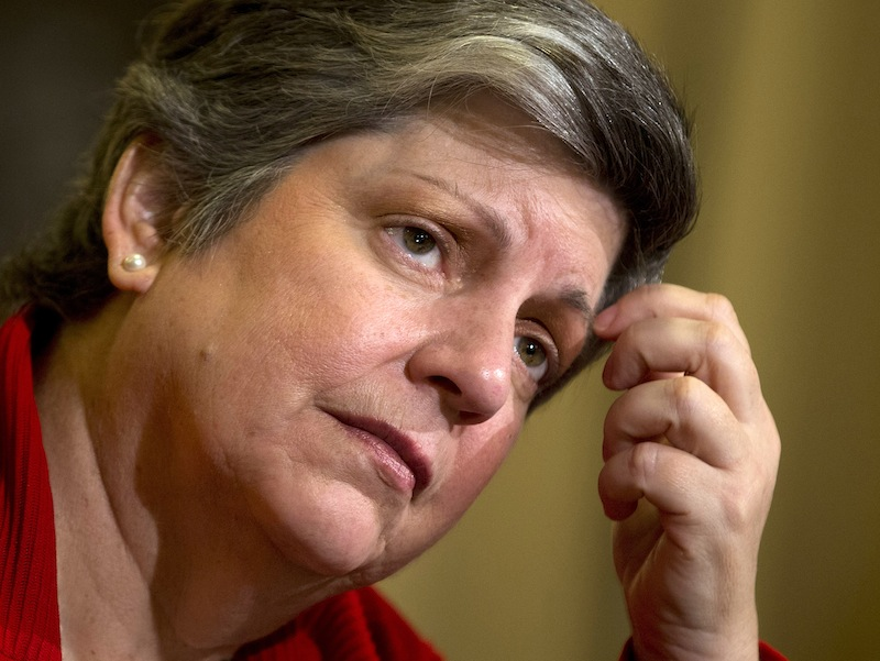 In this April 18, 2013 file photo, Homeland Security Secretary Janet Napolitano testifies on Capitol Hill in Washington. The Homeland Security Department ordered border agents