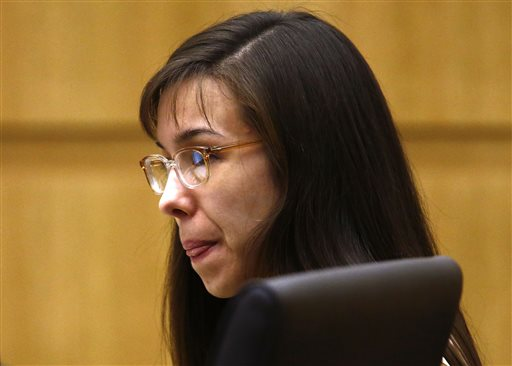 Jodi Arias listens to prosecutor Juan Martinez address the jury on May 15, 2013, during the sentencing phase of her trial. She is set to speak to the jury Tuesday morning.