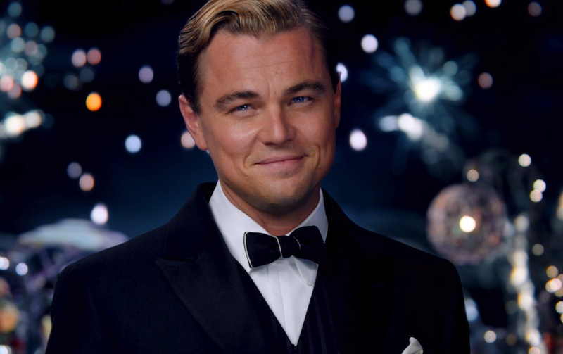"""This film publicity image released by Warner Bros. Pictures shows Leonardo DiCaprio as Jay Gatsby in a scene from """"The Great Gatsby."""" (AP Photo/Warner Bros. Pictures) Daisy Buchanan-CAREY MULLIGAN"""