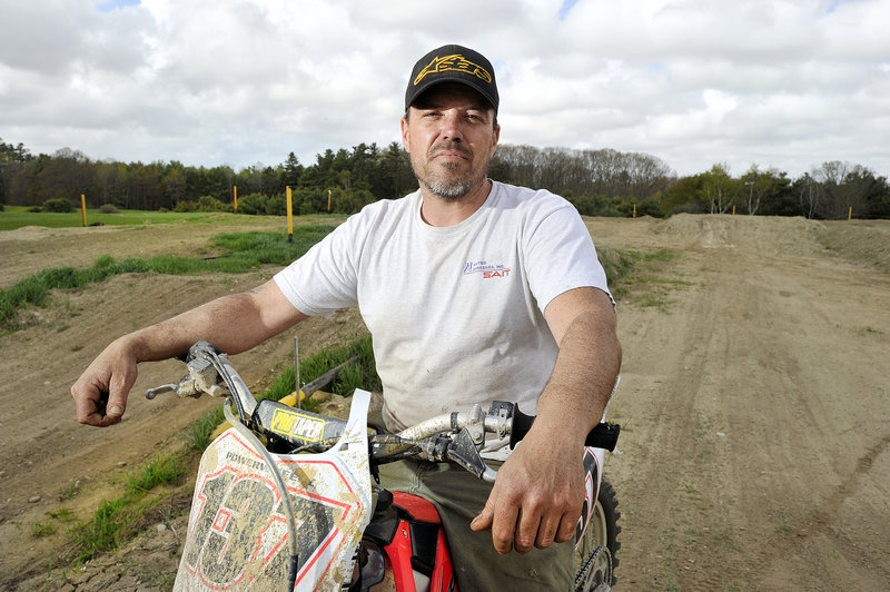 Gorham resident Merritt Bennett is hoping the town will approve a motocross bike course on his families farm on the Fort Hill Road. Photographed on Wednesday, May 8, 2013.