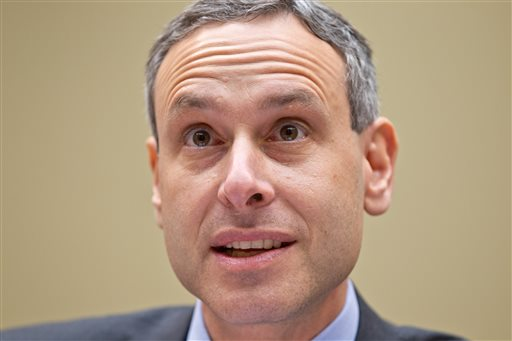 In this Aug. 2, 2012, photo, then-Internal Revenue Service Commissioner Douglas Shulman testifies on Capitol Hill. Lawmakers want to know why Shulman didn't tell Congress that agents had been singling out conservative political groups for additional scrutiny when they applied for tax-exempt status – even after he was briefed.