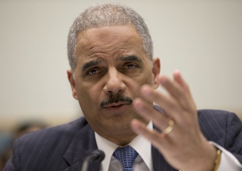 Attorney General Eric Holder testifies on Capitol Hill in Washington on Wednesday before the House Judiciary Committee oversight hearing on the Justice Department.
