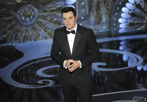 Seth MacFarlane at the 2013 Oscars at the Dolby Theatre in Los Angeles. (Photo by Chris Pizzello/Invision/AP, File) Oscar;Oscars