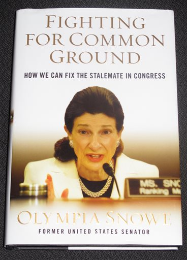 The cover of former U.S. Sen. Olympia Snowe's new book, which is being released Tuesday.