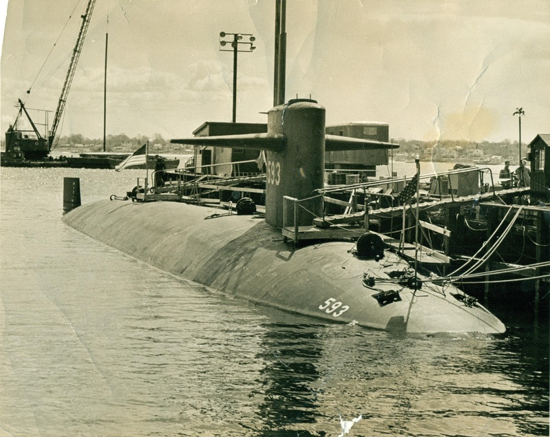 The USS Thresher was launched in Kittery in 1960 and sank three years later.