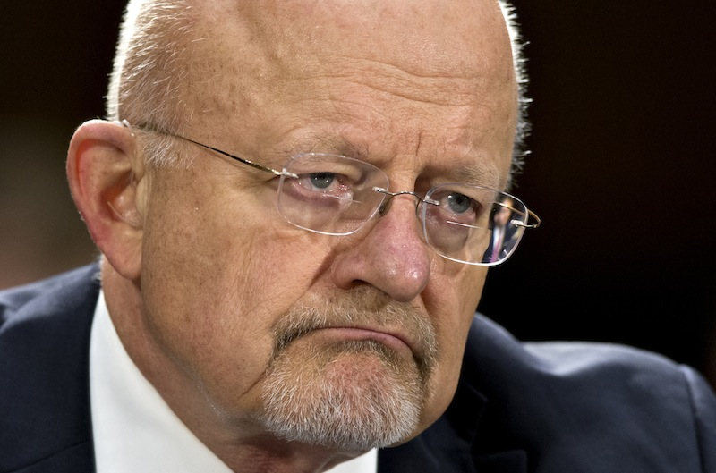 """In this April 18, 2013, file photo, National Intelligence Director James R. Clapper testifies on Capitol Hill in Washington. North Korea """"will move closer"""" to its announced goal of being able to strike the U.S. with a nuclear-armed missile if it keeps investing in tests of nuclear and missile technology, the Pentagon said Thursday, May 2, 2013, in a report to Congress. Clapper said shortly after the DIA assessment was made public that its conclusion was not shared by other intelligence agencies. (AP Photo/J. Scott Applewhite, File)"""
