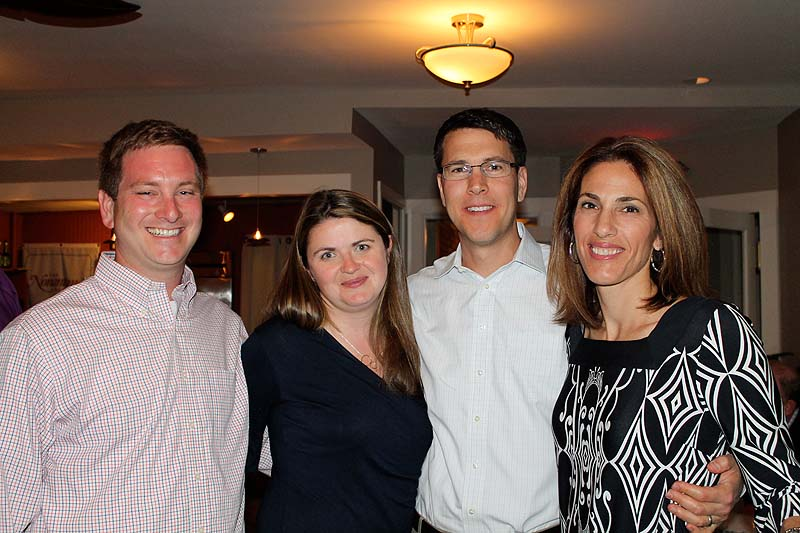 Alexander Peacock and Jen Peacock Lyons with Ben and Emily Kahn of Kennebunk. The event raised $9,500.