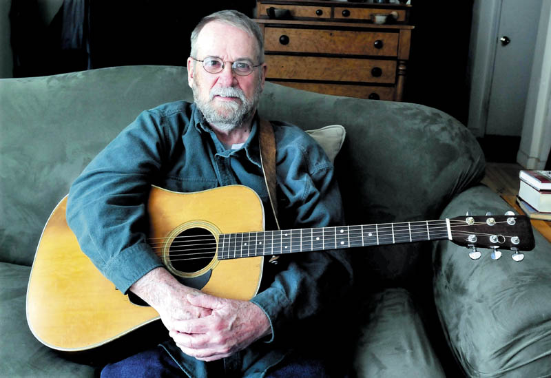 In this April 2013 file photo, musician Stan Keach of Rome, Maine. A couple of Maine bands teamed up to produce a six-song album inspired by the North Pond Hermit's story, due to be released on CD later this month.