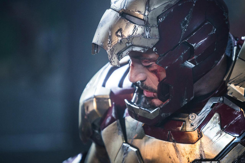 "Robert Downey Jr. stars in ""Iron Man 3."""