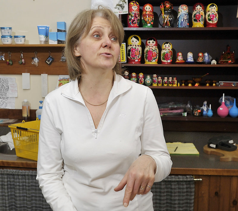 """Luba Gorelov, above, a Kazakhstan immigrant interviewed for an article about Maine Russians' response to the Boston bombings, should have been asked why she described Chechen culture as """"blood for blood,"""" a reader says."""