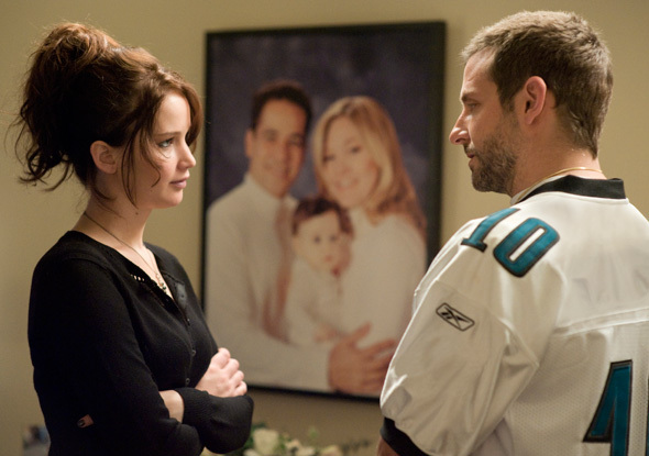 "Jennifer Lawrence, who won the Best Actress Oscar for her role, and Bradley Cooper in ""Silver Linings Playbook."""