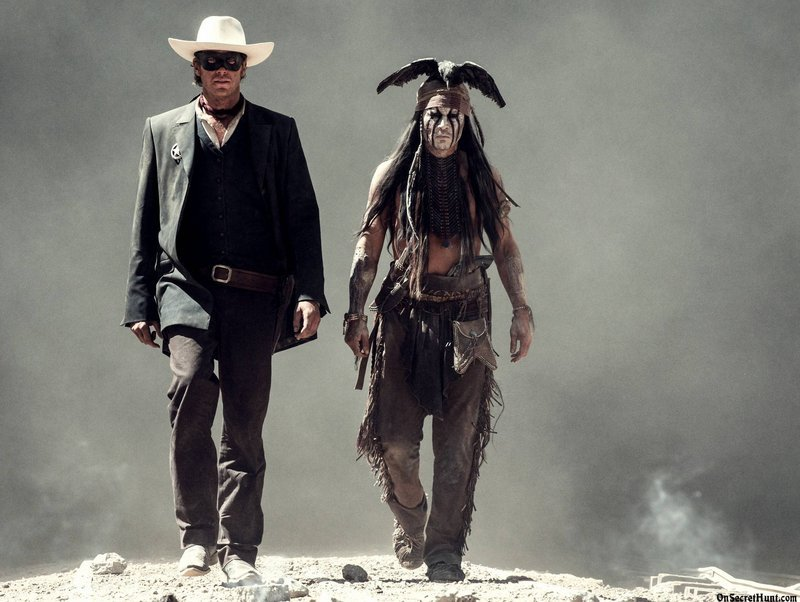 "Armie Hammer, left, and Johnny Depp in ""The Lone Ranger,"" opening July 5."