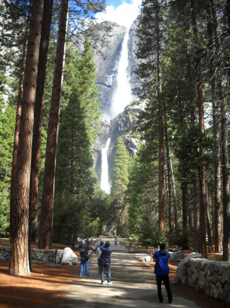 The pathway to Yosemite Falls.