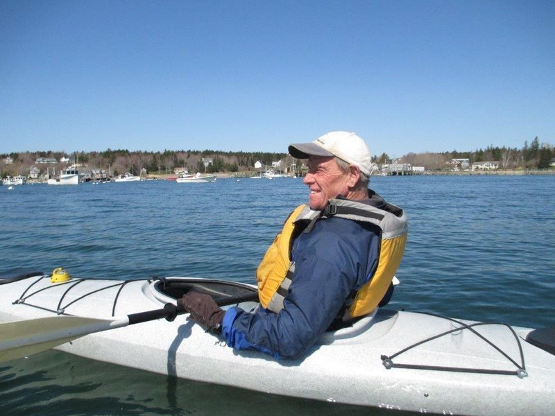 Columnist John Christie marks the coming of spring with the first of what will be many kayaking adventures on Penobscot Bay, although he may get in one more day of skiing on Mount Washington.