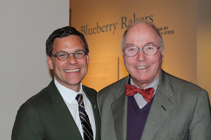 Mark Bessire, Portland Museum of Art director, left, with George Gillespie, who helped bring the exhibition to the museum.
