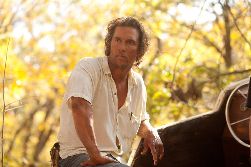 Matthew McConaughey plays a fugitive named Mud in the movie of the same name.