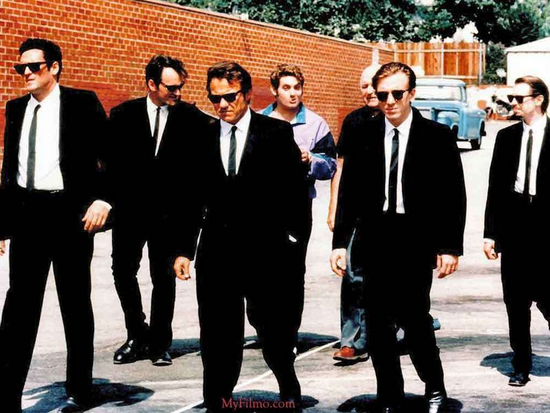 """Reservoir Dogs,"" starring Harvey Keitel, center, launched the careers and frequent partnership of director Quentin Tarantino and producer Lawrence Bender."
