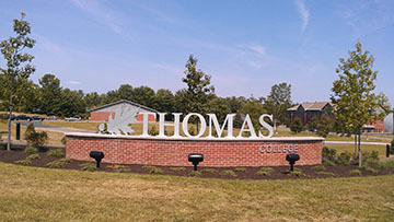 Thomas College in Waterville had a tough time gaining accreditation for its sports management program because of its small size, its academic dean, James Libby, said.