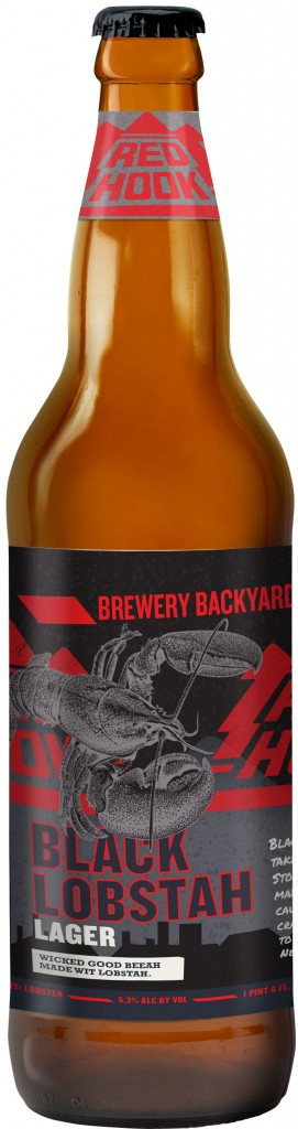 Black Lobstah Lager from Red Hook is going to be sold only in New England, so it feels more local.