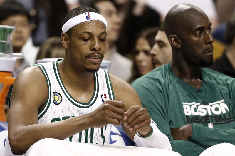 Celtics mainstays Paul Pierce and Kevin Garnett may no longer be wearing the green next season as age and injuries are taking their toll on the distinguished players.