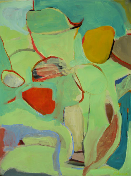 Painting by Jim Flahaven from the SMCC faculty show opening with a reception Saturday at Rose Contemporary, Portland.