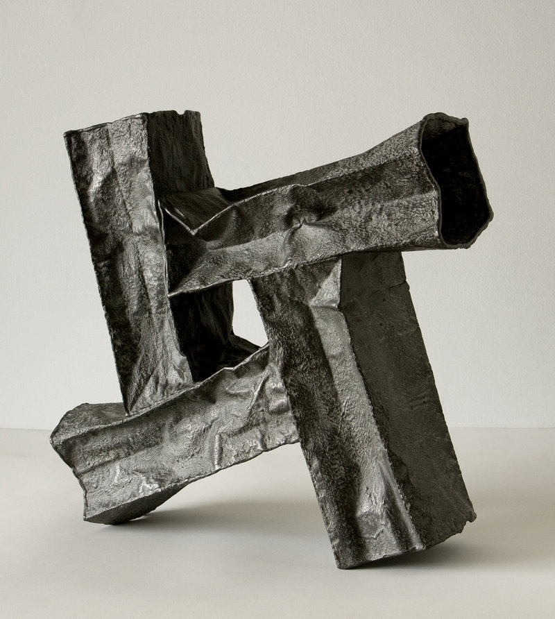 """Dynamic Composition II,"" 2012 by James Marshall, graphite, plaster and polyvinyl acetate on paper"