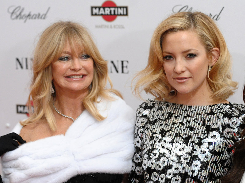 Goldie Hawn, left, and Kate Hudson form one of Hollywood's better-known mother-daughter acting pairs.