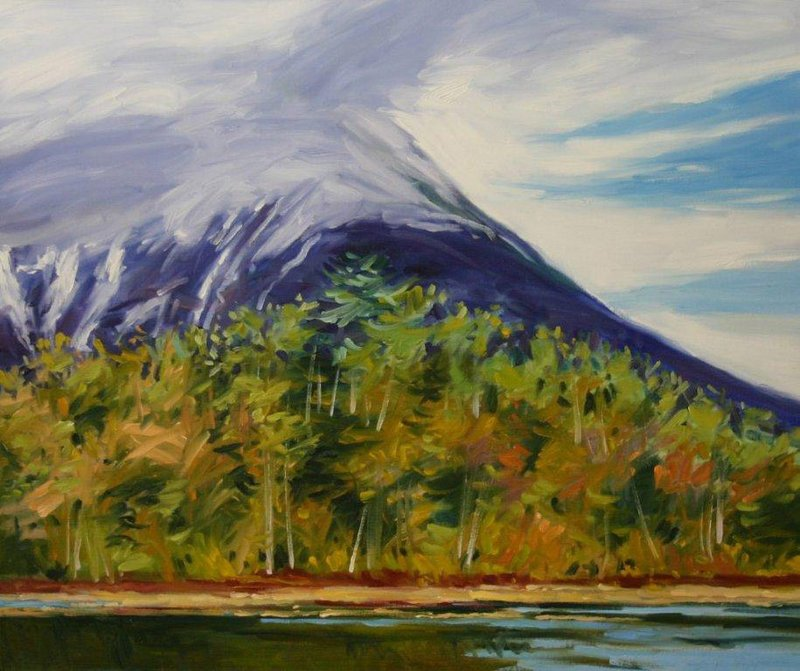 """Katahdin from Tracy Pond #3,"" by J. Thomas R. Higgins"