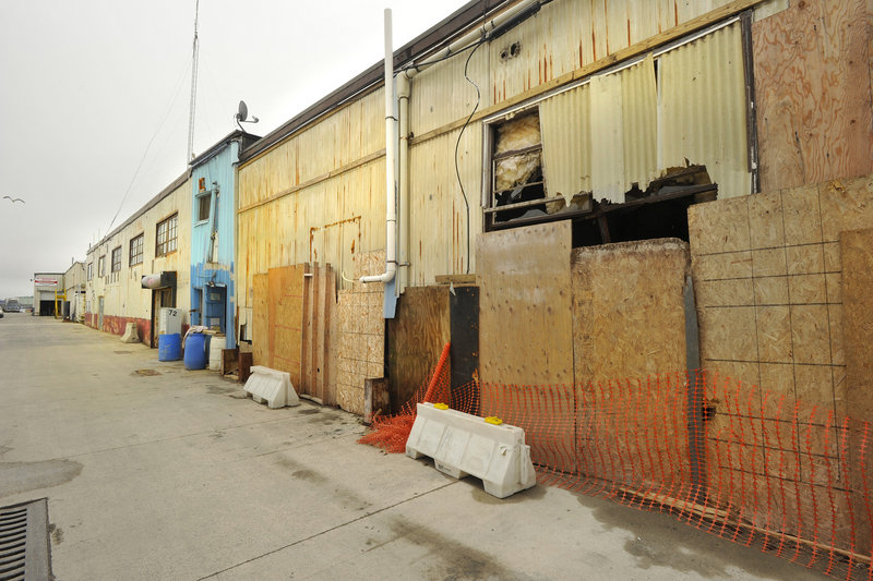 Renovations move forward on a building on Portland Wharf.