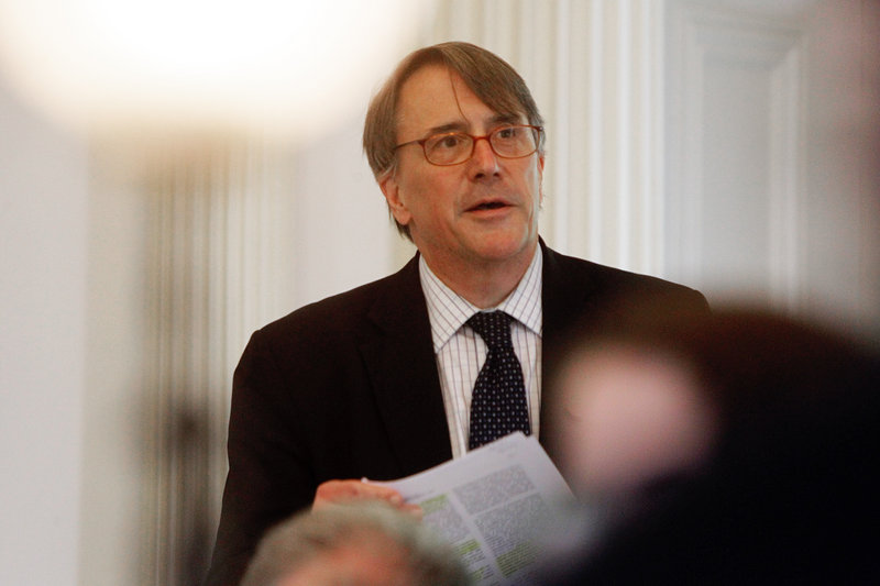 Sen. Peter Galbraith speaks Friday in Montpelier. Since his arrival in the Senate in 2011, he often has left his colleagues rolling their eyes and muttering about his tactics.