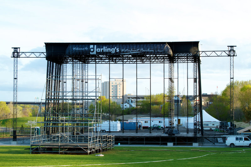 The stage at Darling's Waterfront Pavilion
