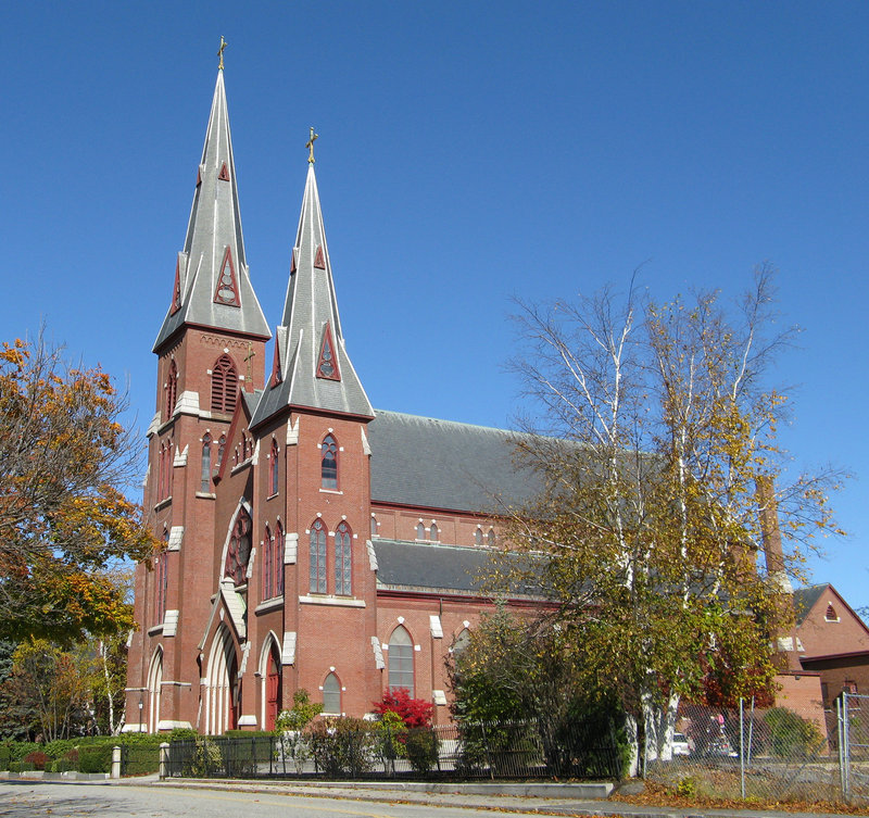 St. Patrick Church in Lewiston is one of many Catholic Church properties up for sale in Maine.