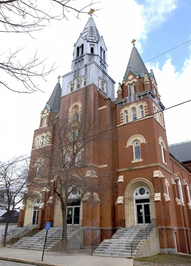 St. Andre Church in Biddeford is one of the many Catholic Church properties up for sale in Maine.
