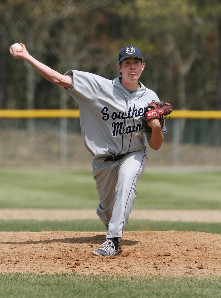 Andrew Richards, USM's ace reliever, pitched a shutout Saturday against Western New England in his first start of the season, then earned another win in relief against Endicott as USM avoided elimination from the NCAA regional.