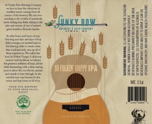 Funky Bow labels reflect the brewers' love of music.