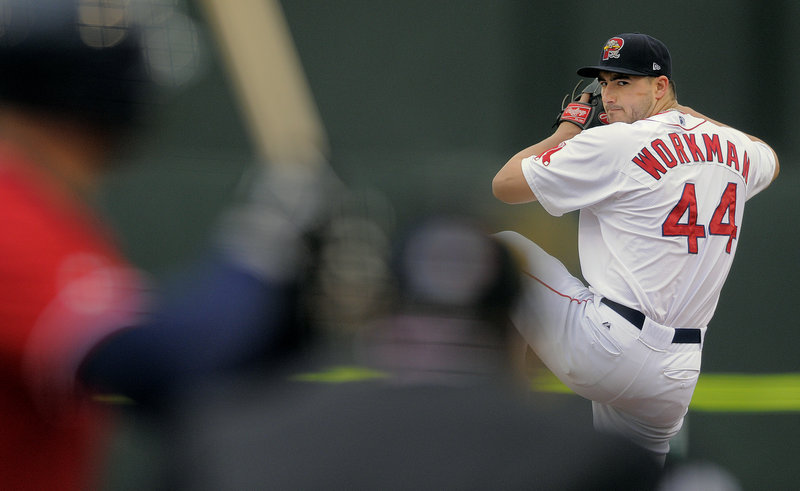 Brandon Workman pitched five innings for Portland, allowing three runs on five hits while striking out six.