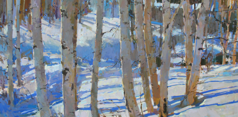 """""""Deep Winter Rhythm"""" by Colin Page in the """"Spatial Perception"""" exhibition at Greenhut Galleries in Portland."""