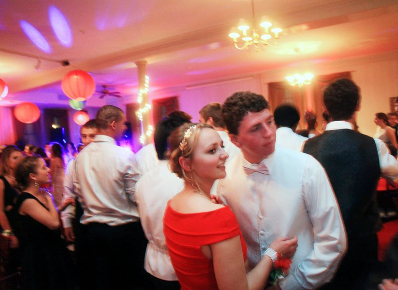 Mackenzie Leighton, a junior at Cape Elizabeth High School, and her date, Connor Maguire, a senior, attend their prom May 18 at The Portland Club in Portland.