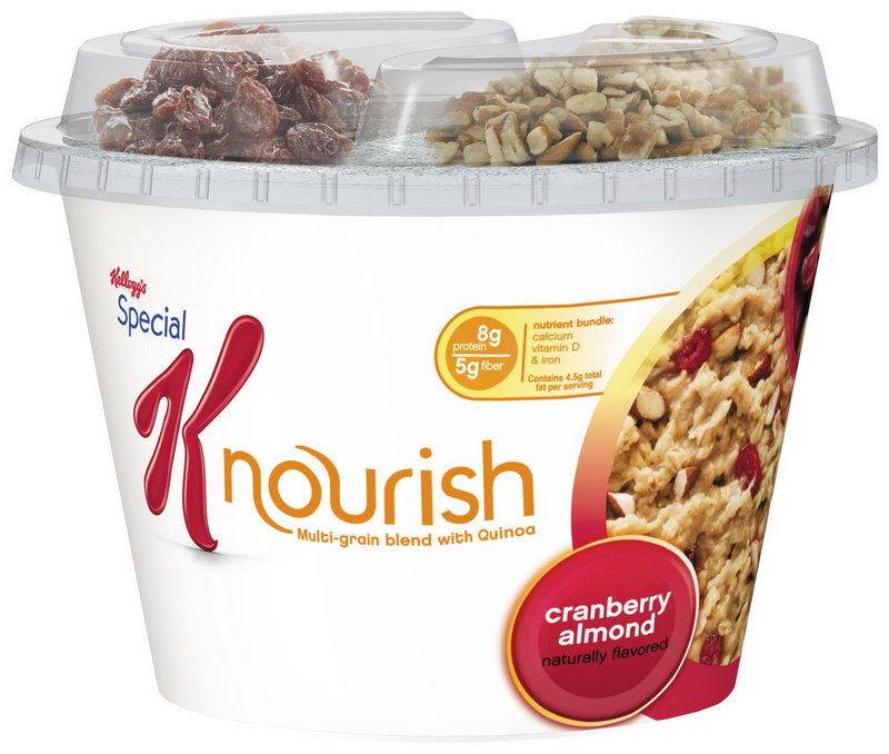 "Photo provided by Kellogg's shows Special K Nourish, expected to hit stores in July. Kellogg Co. is building on its biggest moneymaker even further with the ""hot cereal"" that's made with quinoa and other grains."