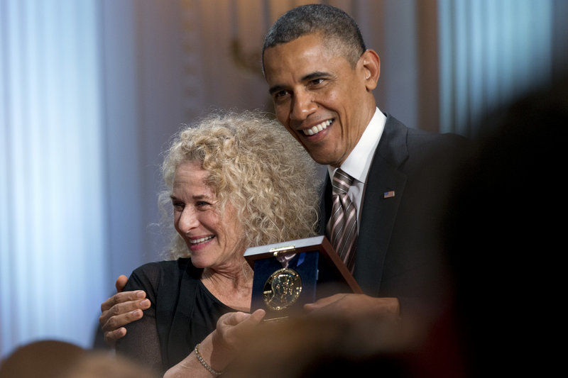 President Obama honors singer-songwriter Carole King at the White House.