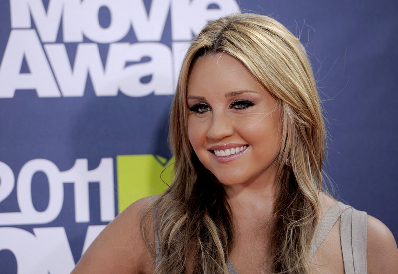 Amanda Bynes arrives at the MTV Movie Awards in Los Angeles on June 5, 2011. Bynes appeared in criminal court Friday.