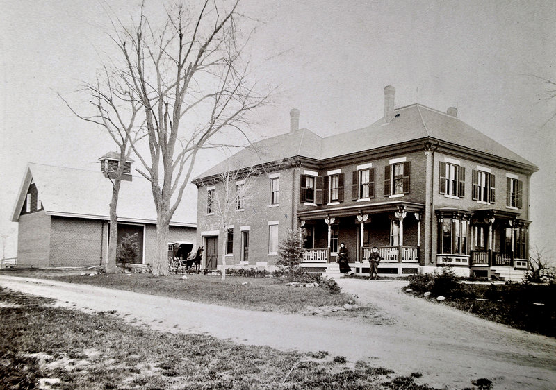 This is the original Walker House on Brook Street, about half a block from Prides Corner intersection pre-1892.