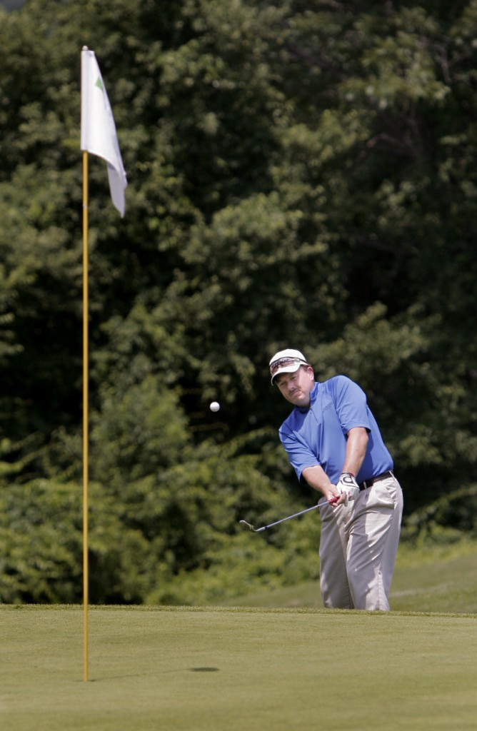Jeff Seavey, one of the top golfers in Maine, has used the anchored putter since 2003, but remains just as sharp with the short putter.