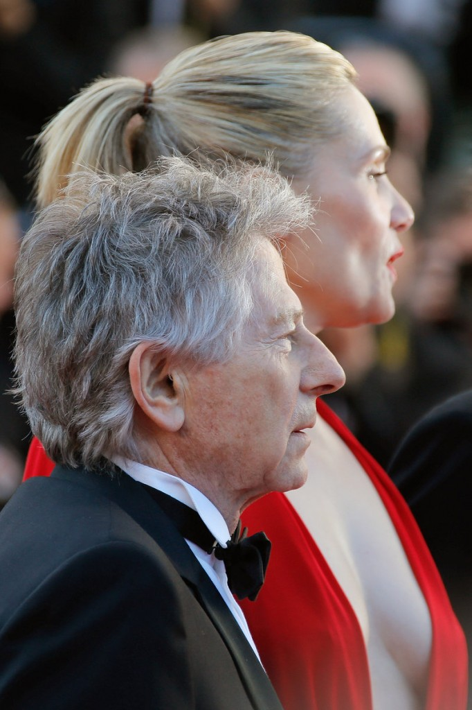 Director Roman Polanski and his wife, actress Emmanuelle Seigner, arrive at Cannes, France.
