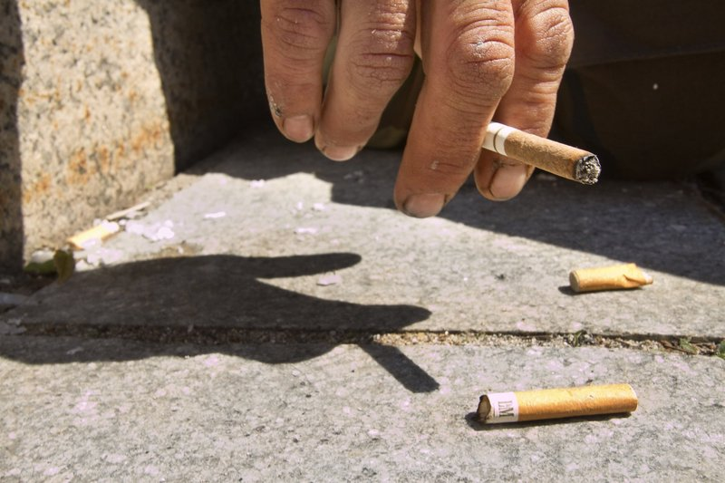 Cigarette butts were a problem before the owner of the Spartan Grill on Monument Square tried a cleanup effort and they remain a problem after his attempt.