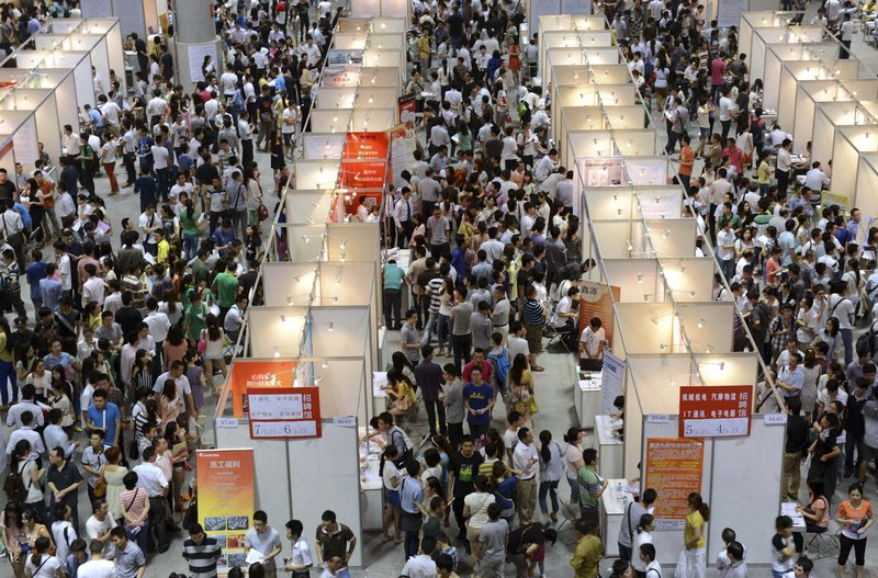 While the Chinese economy is still better than in many other parts of the world, 2013 is being billed as the worst for young graduates such as these at a job fair.