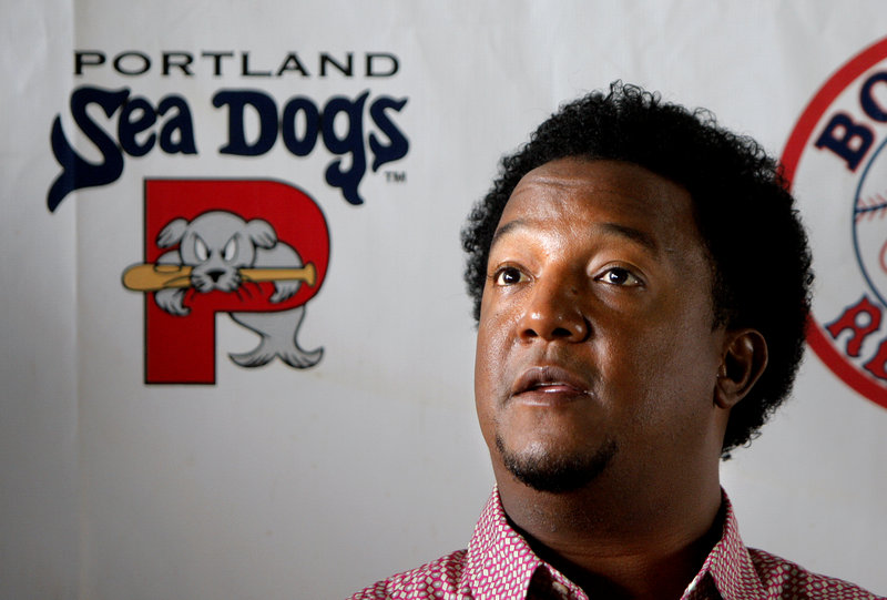Pedro Martinez, a special assistant to Red Sox GM Ben Cherington, visited Hadlock Field Wednesday night, and got to see Anthony Ranaudo's pitching gem.