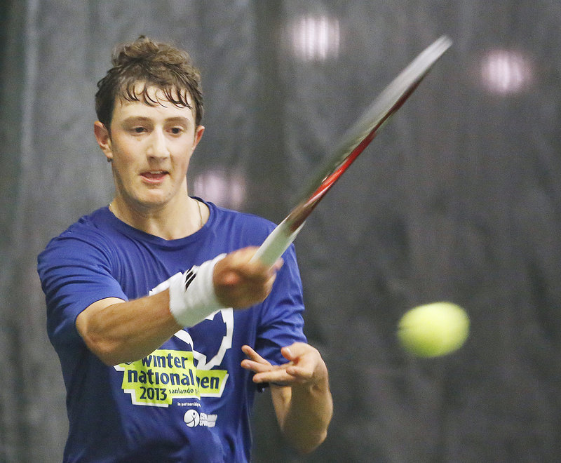 Jordan Friedland of Lincoln Academy was pleased that the state finals were moved from Bates College to Portland, and it showed with a straight-set victory.
